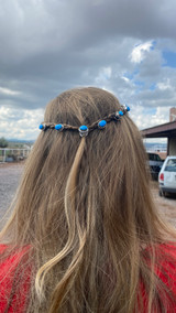 Chaco Canyon Hair Buttons Kingman Turquoise (a set of 2)