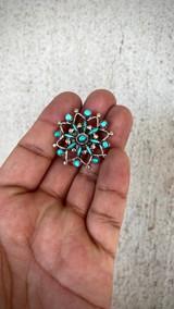 Chaco Canyon Vintage Snowflake Pendant/Pin