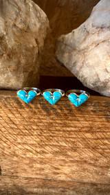 Oh!! Shi' Heart Kingman Turquoise Rings