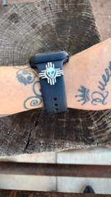 New Mexico Beam Up Me!!! Apple Watch Accessory with Kingman Turquoise