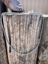 """Navajo Pearl 24"""" Saucer and Round Bead Necklace"""