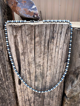"""Navajo Pearl 26"""" Saucer and Round Bead Necklace"""