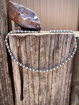 """Navajo Pearl 18"""" Saucer and Round Bead Necklace"""