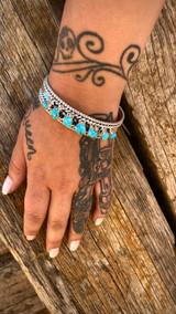 Chaco Canyon 7 Stone Kingman Turquoise Cuff