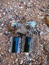 Vintage starburst jasper earrings