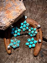 Vintage Nevada Turquoise Cluster Pendant