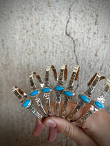 Sleeping Beauty Turquoise Stamped Stacker Cuffs