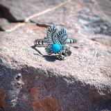 Sleeping Beauty Eagle Ring Sizes 5-12
