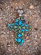 Melting!!! Vintage Cluster Cross Pendant
