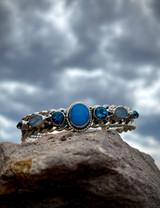 Emerson Delgarito Sleeping Beauty, Blue Topaz and Opal Cuff