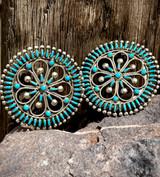 Vintage Zuni Cluster Earrings