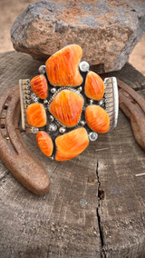 Clarence Long Spiney Oyster Orange Cluster Cuff