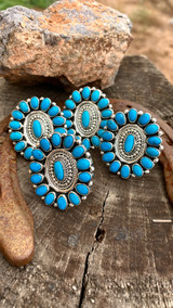 Chaco Canyon Sleeping Beauty Turquoise Cluster Ring