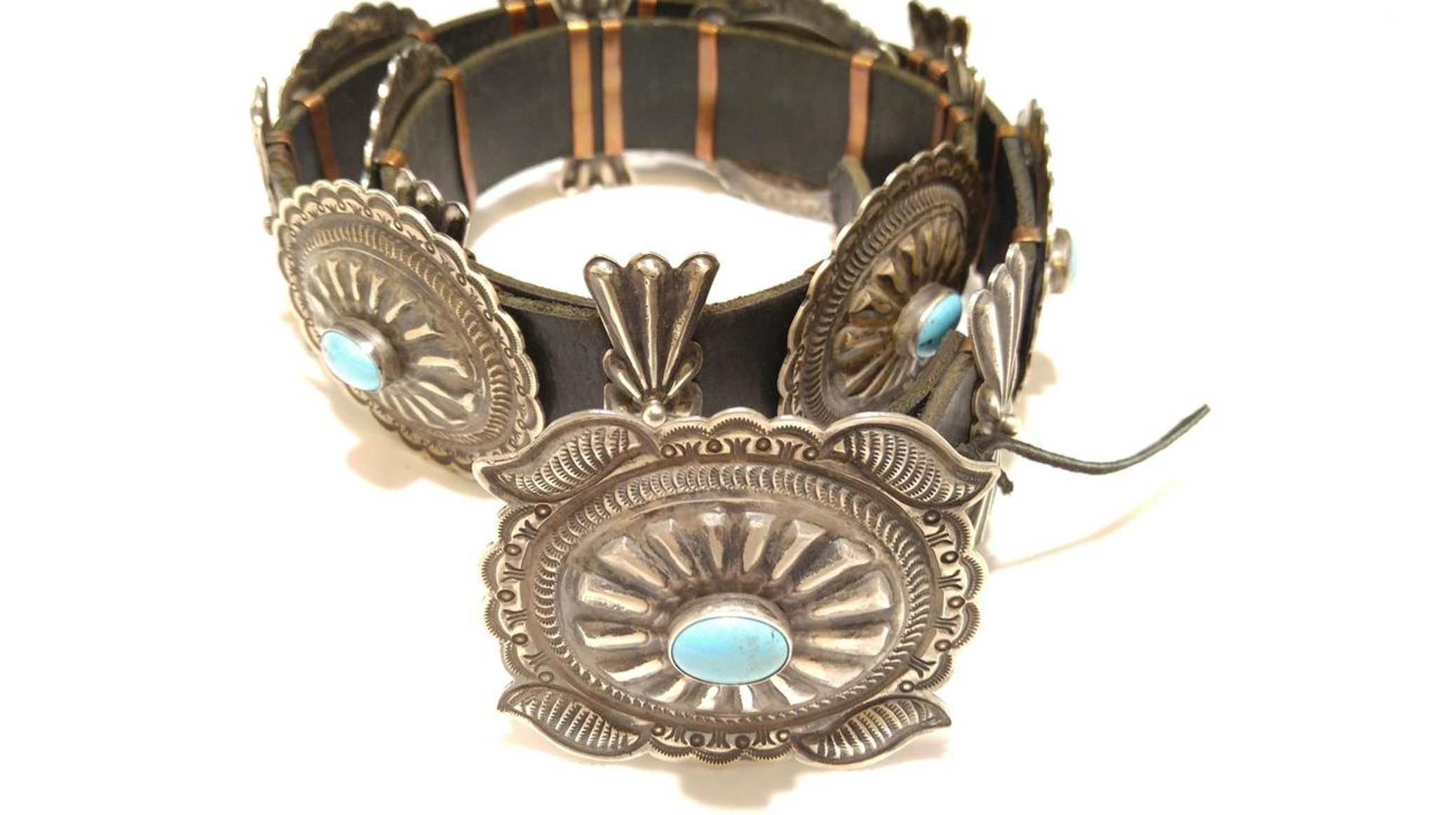 f6234468b4a8 ... Chaco Canyon Kingman Turquoise Concho Belt · Concho Belt .925 Sterling  Silver