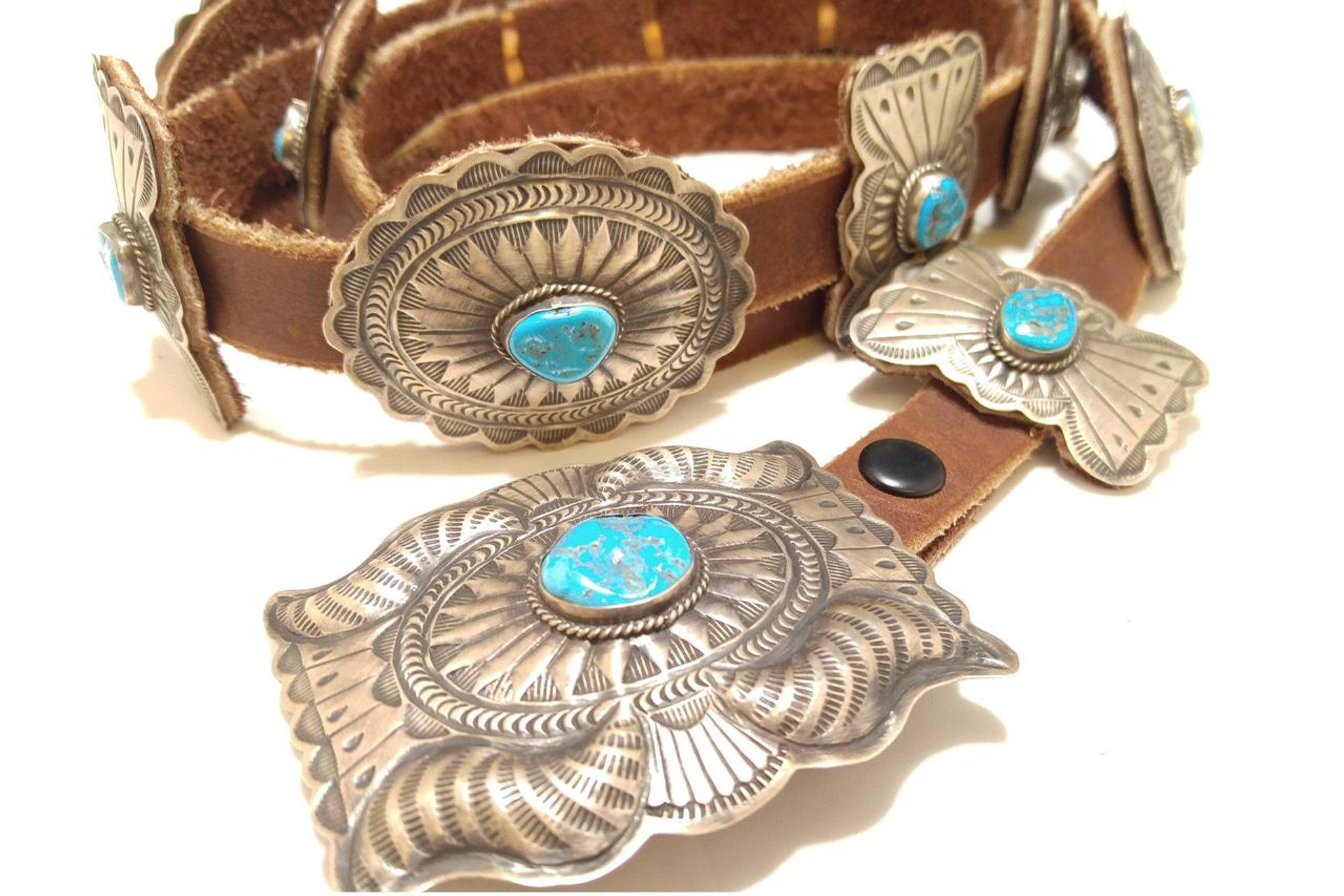 Chaco Canyon Sleeping Beauty Turquoise Concho Belt