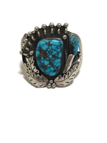 Navajo made turquoise cuff bracelet