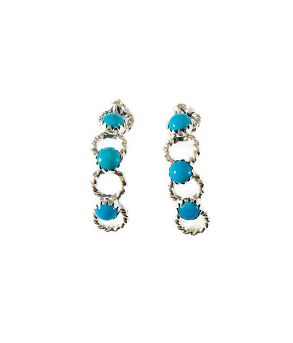 Sleeping Beauty Turquoise Hoop Earrings Artist: Wendell Jake