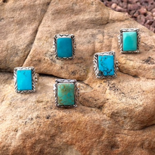 Chaco Canyon Turquoise & Ceremonial Men's Rings
