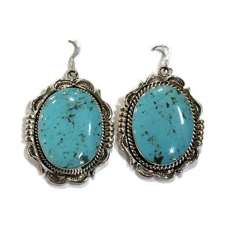 Turquoise With Matrixs Sterling Silver
