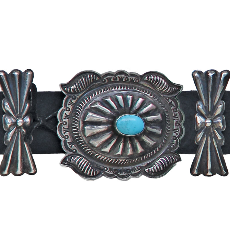 224019b23eb9 Silver Concho Belt - Chaco Canyon Trading Co