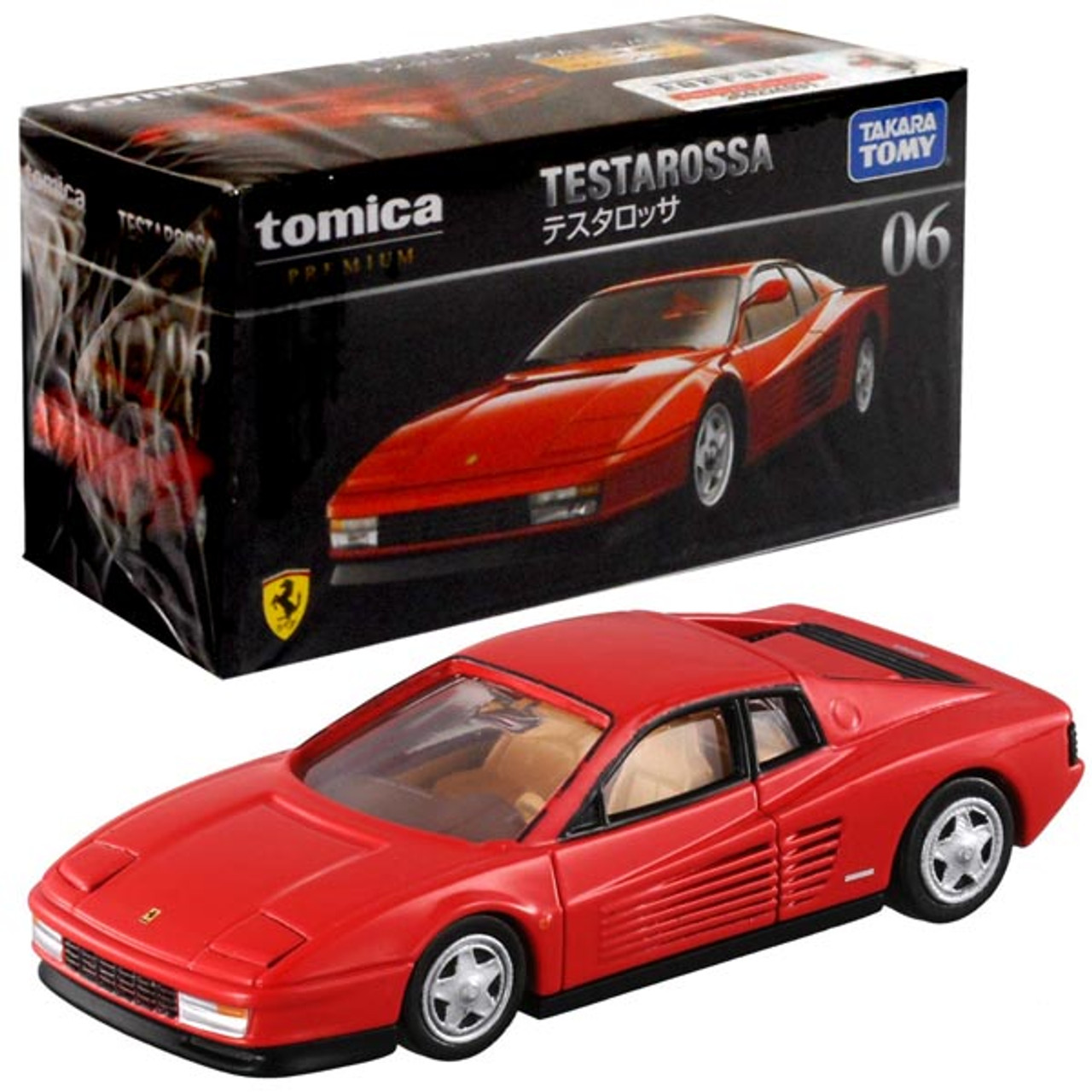 TAKARA TOMY TOMICA PREMIUM DieCast car 1:61 Ferrari TESTAROSSA #06