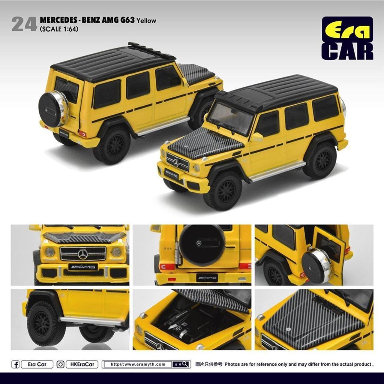 Era Car 024 1 64 Mercedes Benz Amg G63 Spotlight Yellow Diecast Toy Car Buymarket Store