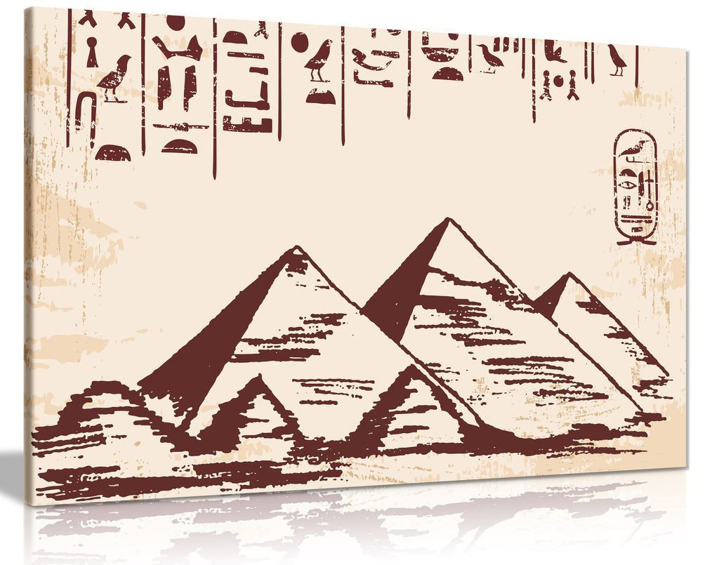 Egyptain Pyramid Canvas Wall Art Picture Print