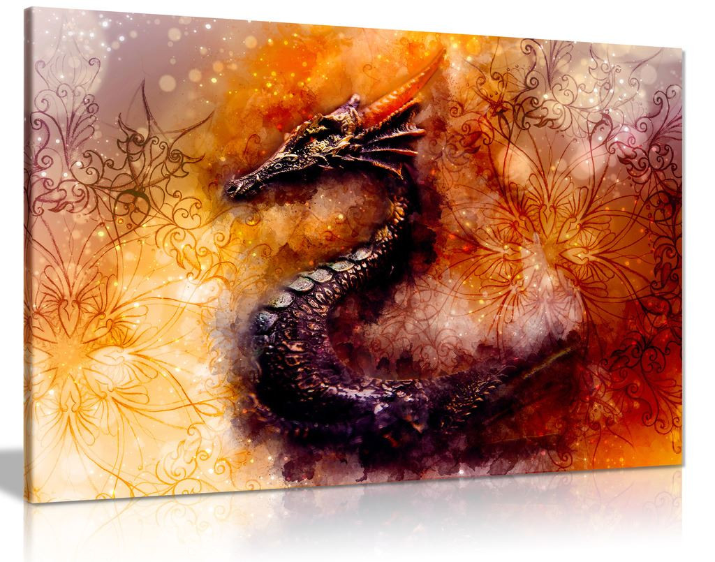 Dragon Canvas Wall Art Picture Print