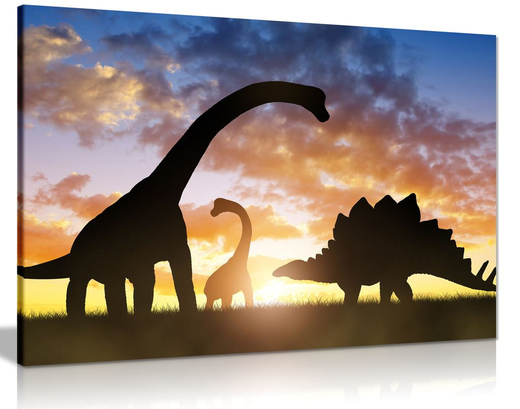 Dinosaurs in Sunset