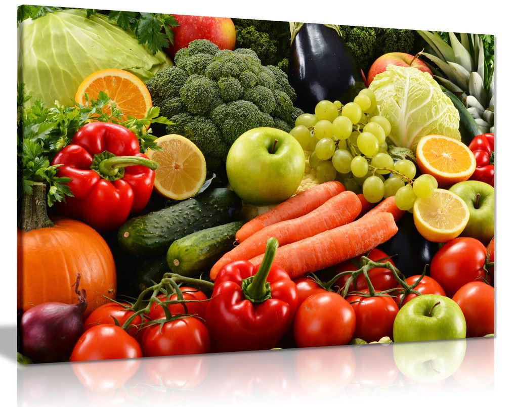 Colorful Various Vegetables Food Canvas Wall Art Picture Print