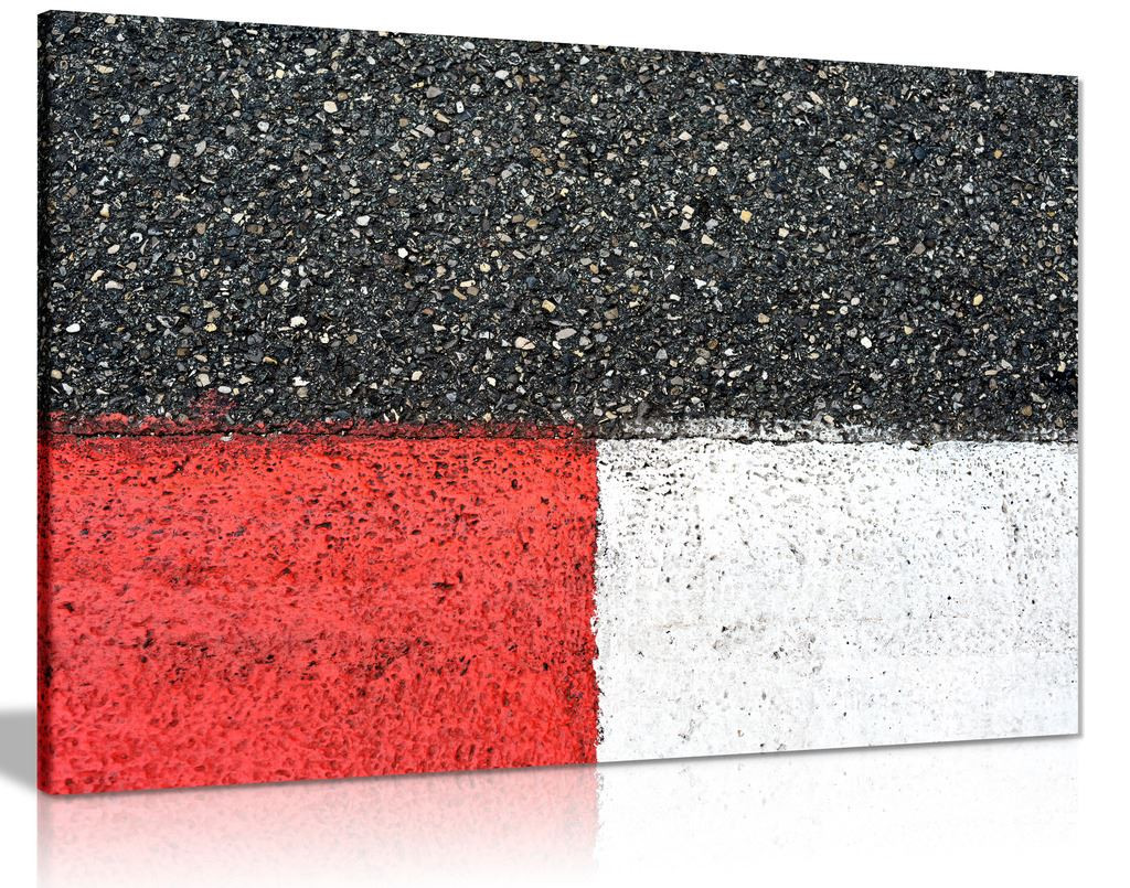 Black Red White Racing Track Grand Prix Modern
