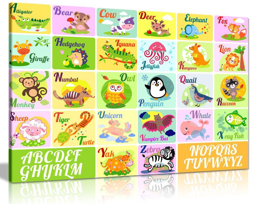 Alphabet Canvas Wall Art Picture Print