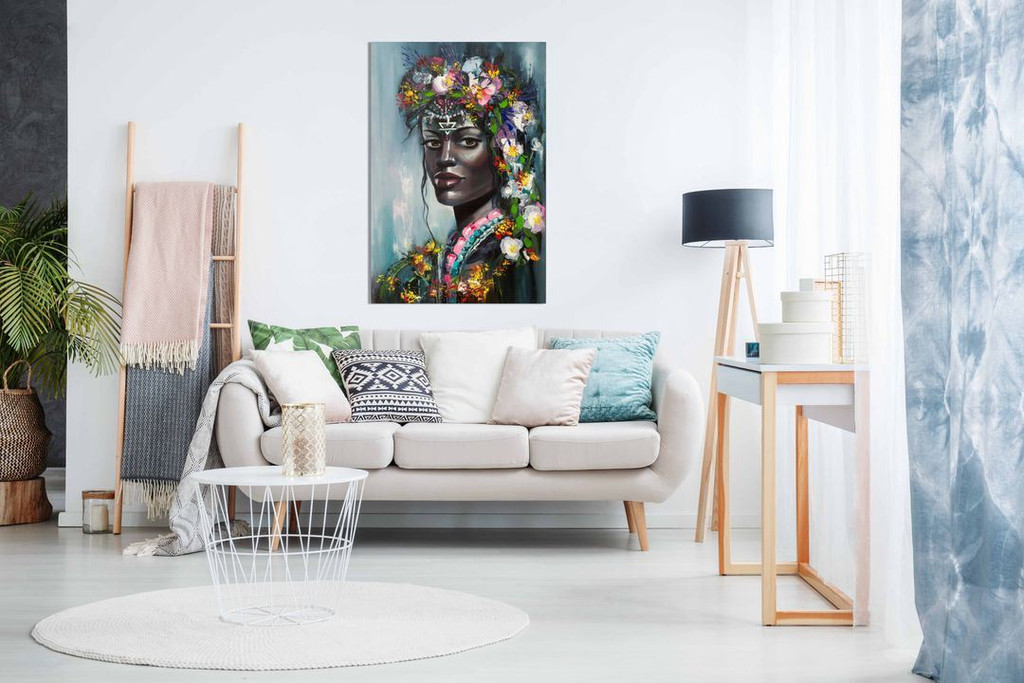 African American Painting Abstract Modern Style for Living Room Bedroom Canvas Wall Art Picture Print Home Decor