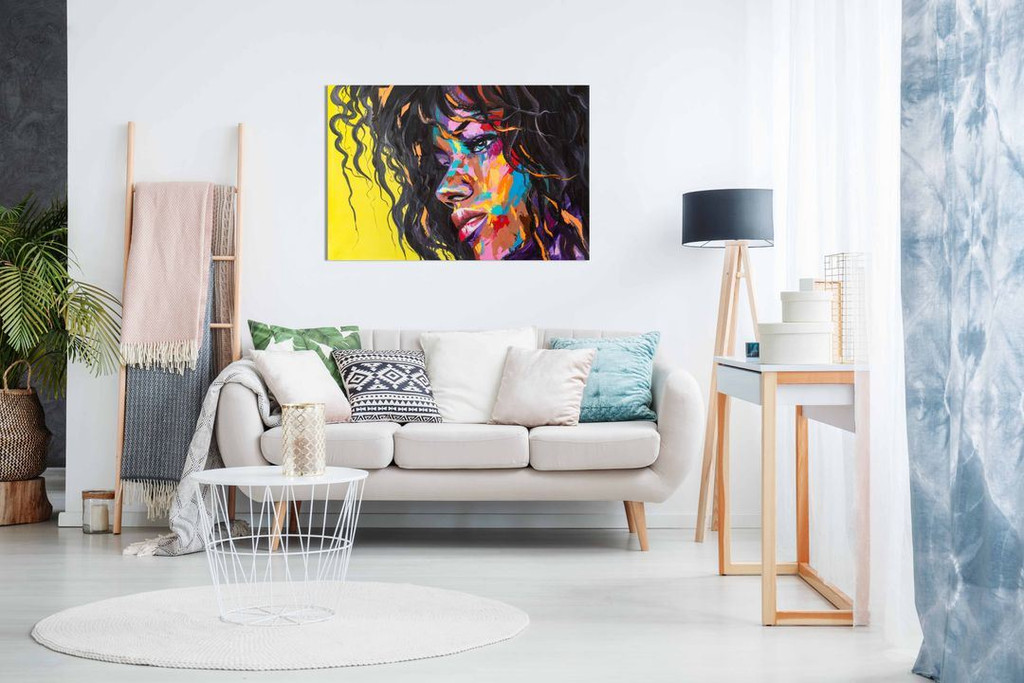 African American Sexy Woman Painting Abstract Modern Style for Living Room Bedroom Canvas Wall Art Picture Print Home Decor