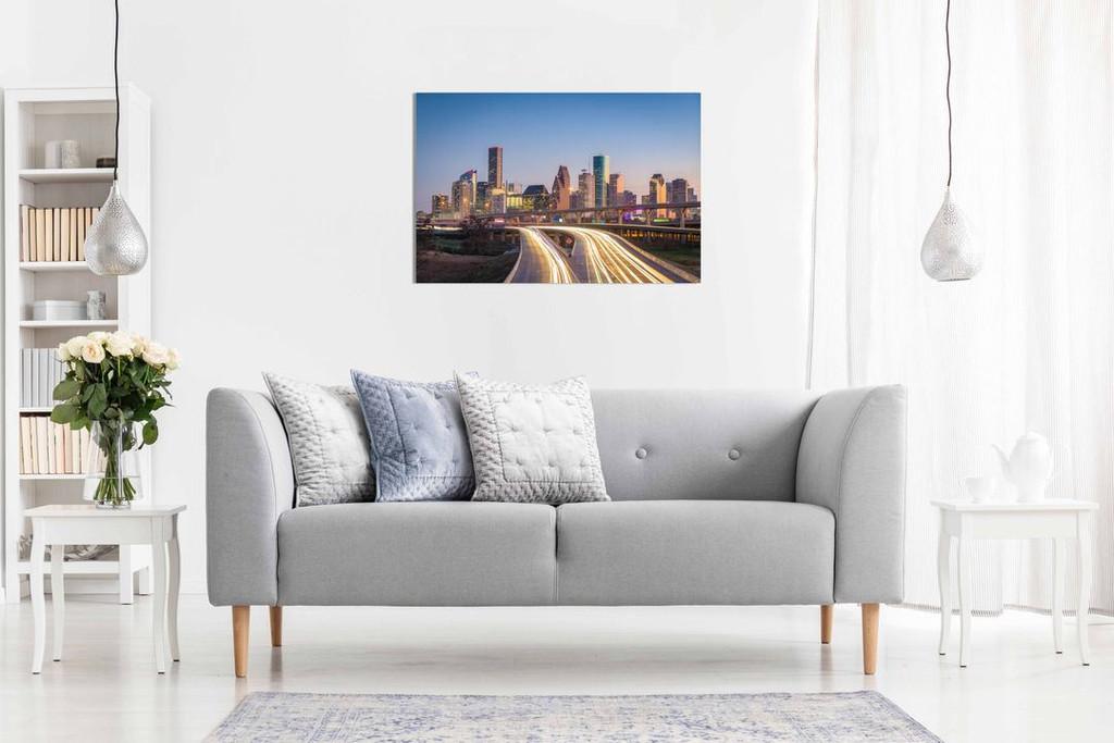 Houston Texas Skyline Canvas Wall Art Picture Print Home Decor