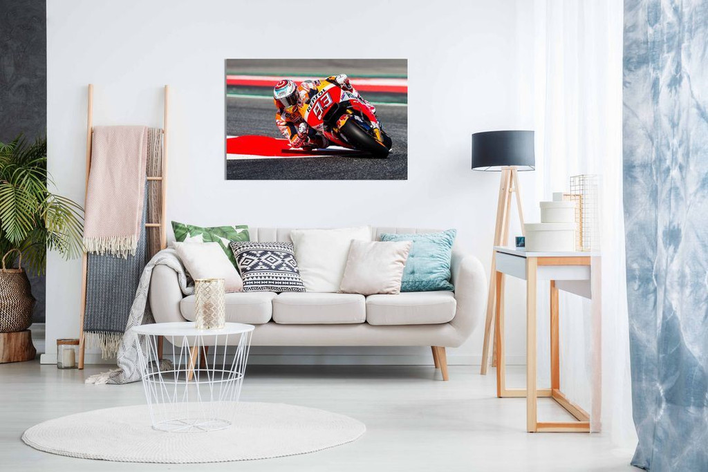 Marc Marquez Moto GP Motorbike Canvas Wall Art Picture Print Home Decor