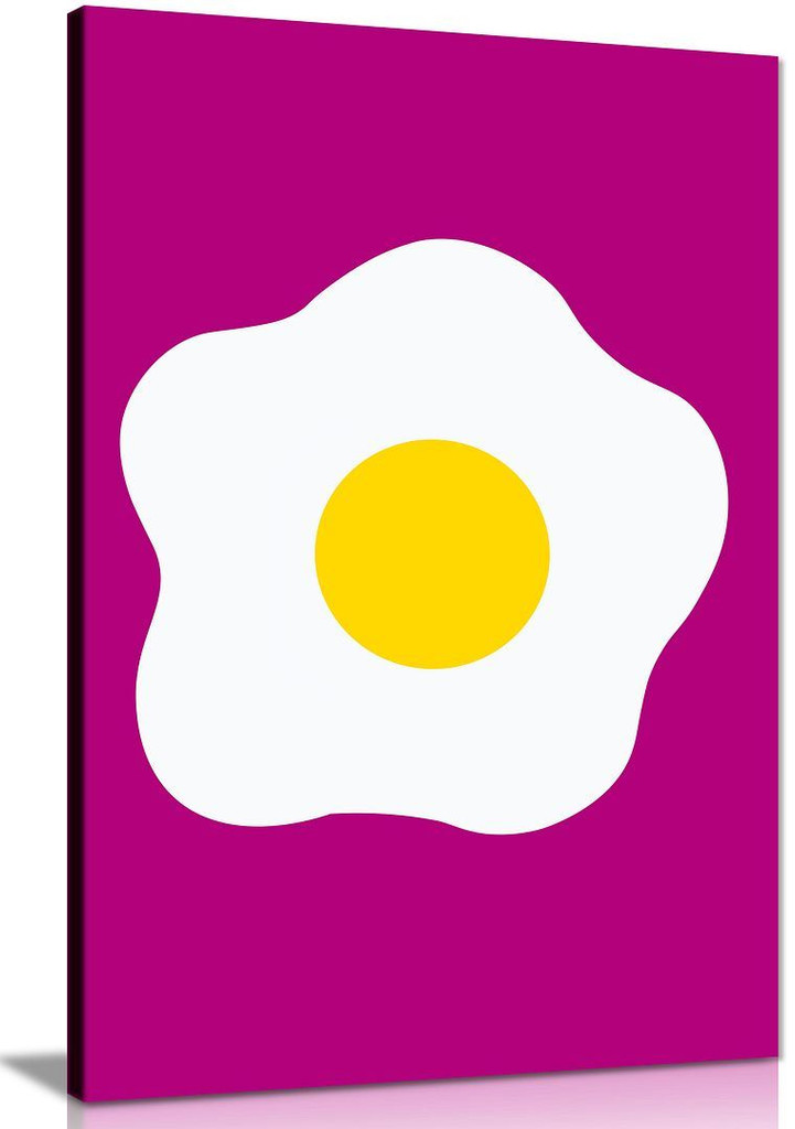 Kitchen Art Fried Egg Canvas Pictures Wall Art Print For Kitchen and Dining Room