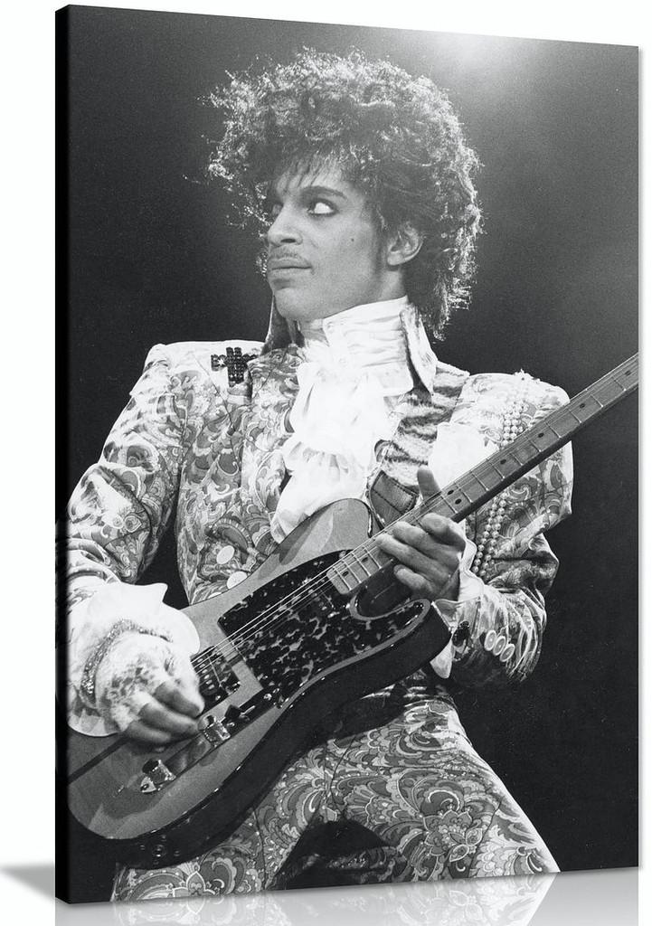 Prince Black & White Music Canvas