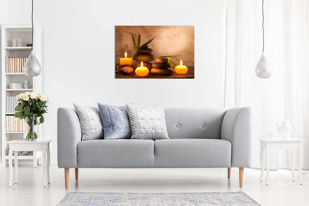 Aromatic Candles & Zen Stones Canvas