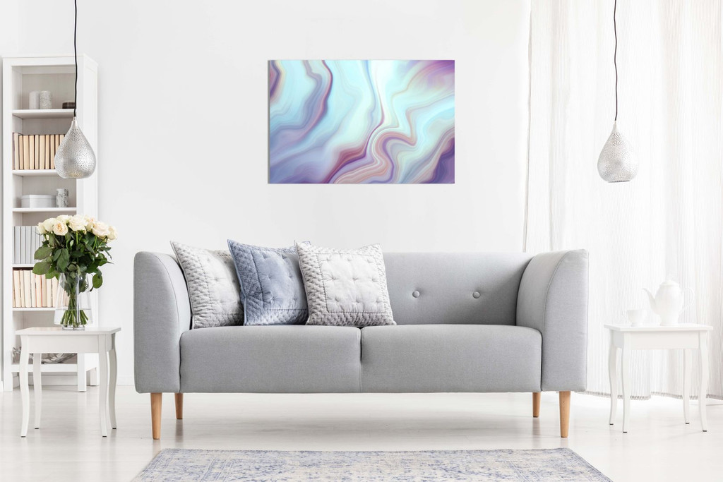 Abstract Modern Contemporary Wall Art Marbled Lines Canvas