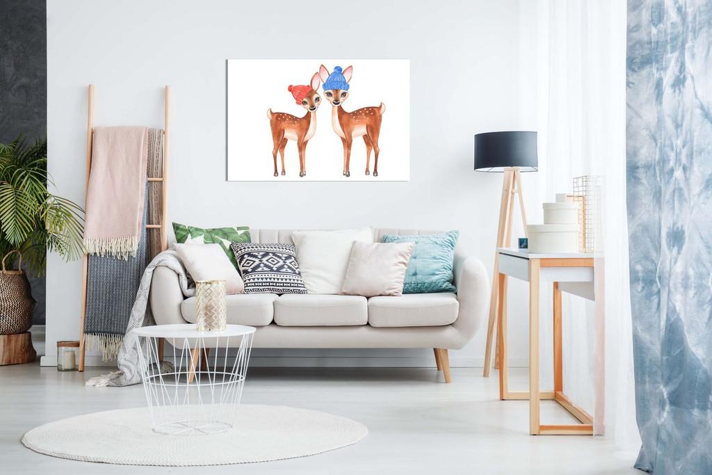 Kids Bedroom Nursery Decor Fawns Canvas