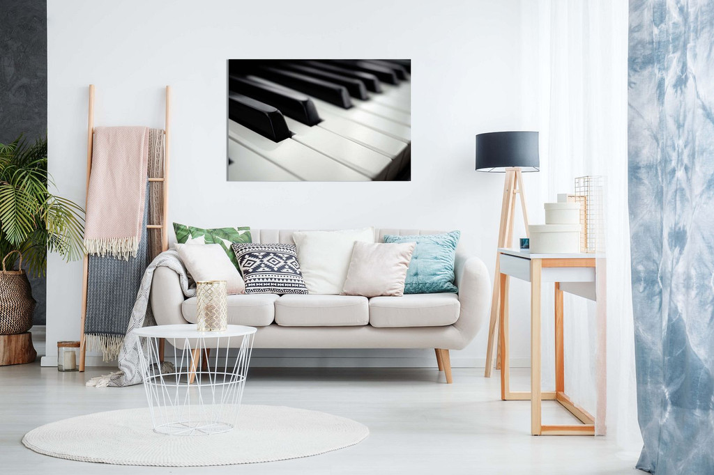 Black And White Piano Keys Modern Wall Decor Home Decoration Canvas