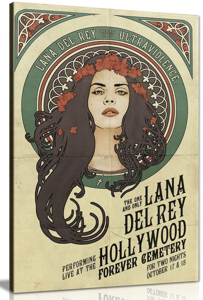 Lana Del Rey Star Canvas