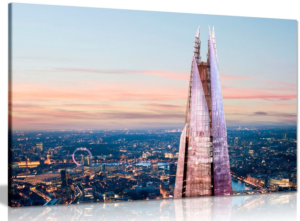 London Skyline Sunset And The Shard Canvas