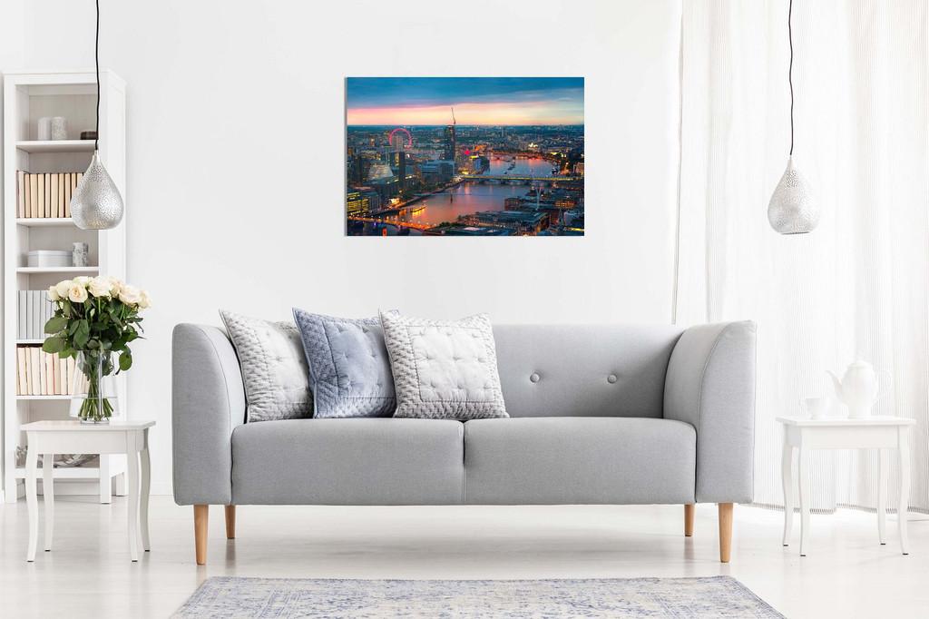 London Sunset, Panoramic View Canvas