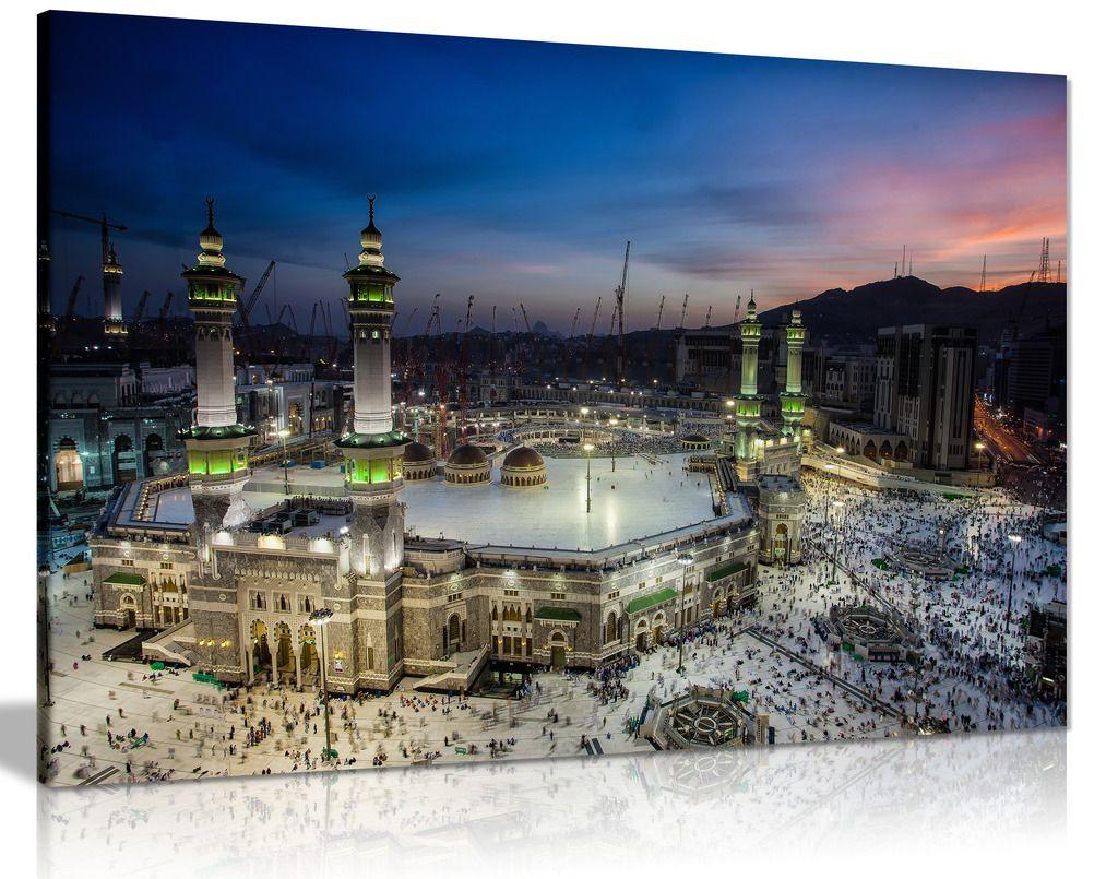 Islamic Arabic Art Mecca Canvas Canvas