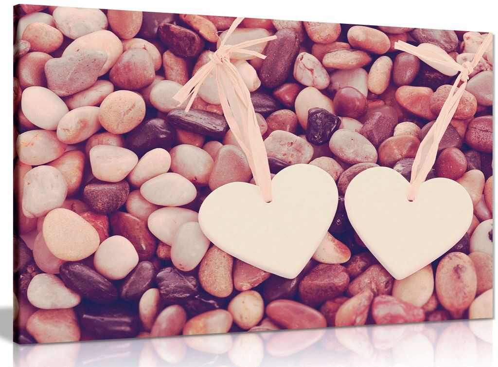 Love Hearts Stone Canvas