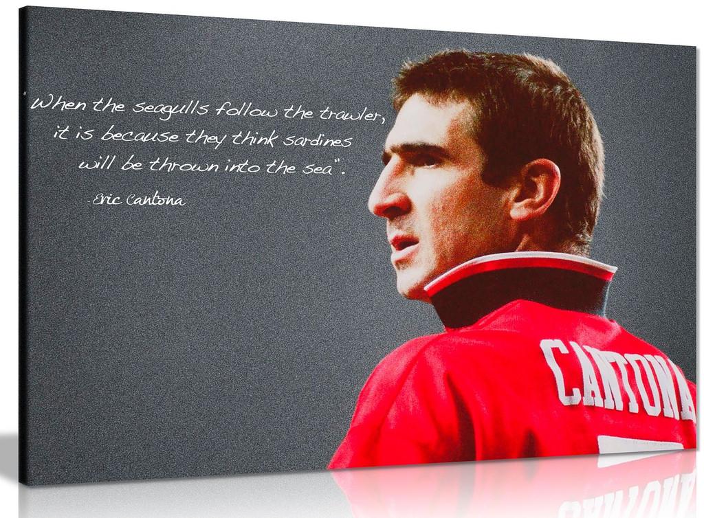 Eric Cantona Manchester United Sardines Quote Canvas