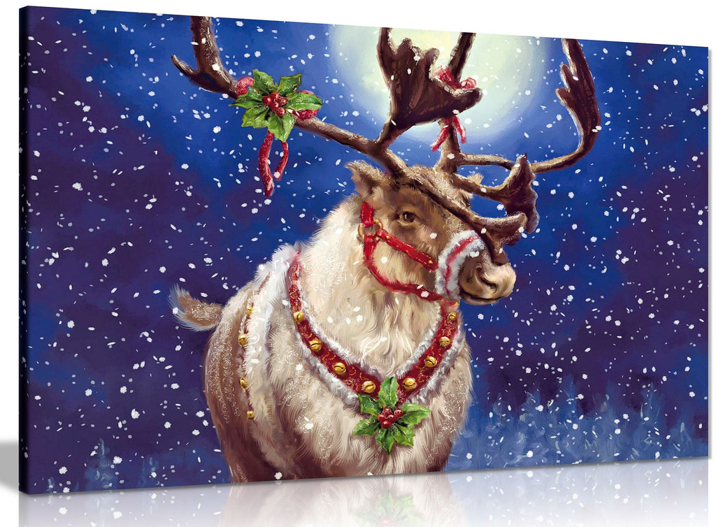Christmas Reindeer Canvas