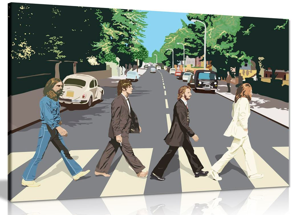 The Beatles Abbey Road 8 Bit Canvas